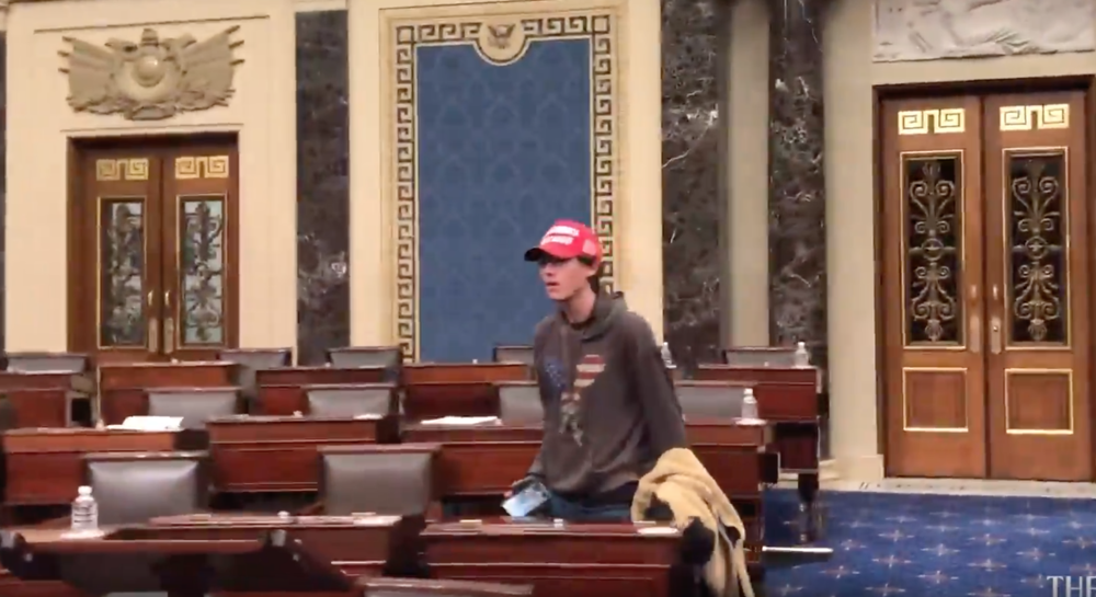 18-year-old Bruno Cua of Milton has been arrested on charges of allegedly breaching the U.S. Senate floor in the Jan. 6 attack on the Capitol.