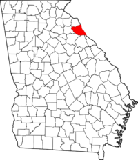 Elbert County on map