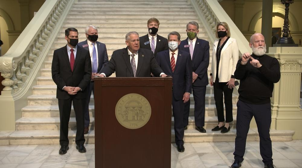 Press conference on passage of amended FY2021 state budget