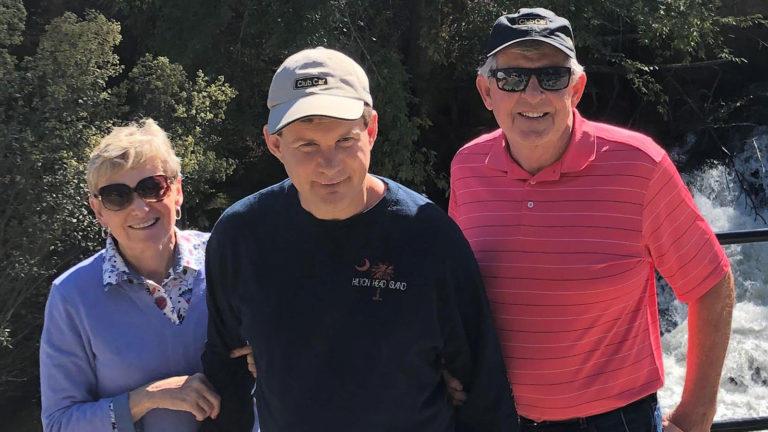 Matt Gaffney with his parents