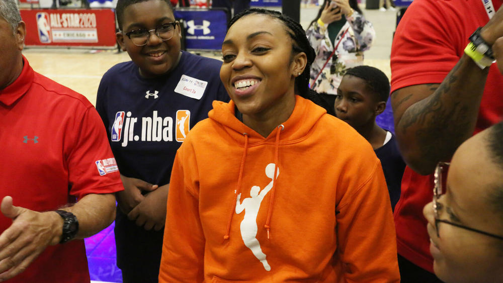 Renee Montgomery becomes first former owner and executive owner of WNBA team.