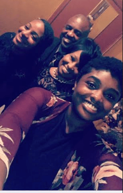 The West family, left to right: Elder daughter Deosha, Pastor Darren West, his wife Effie and youngest daughter Dashekia.