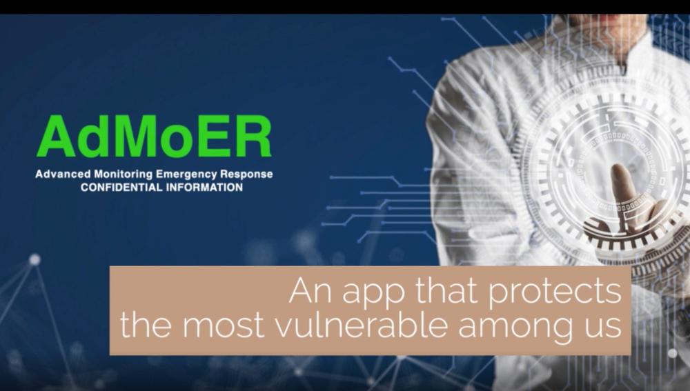 screenshot of admoer website