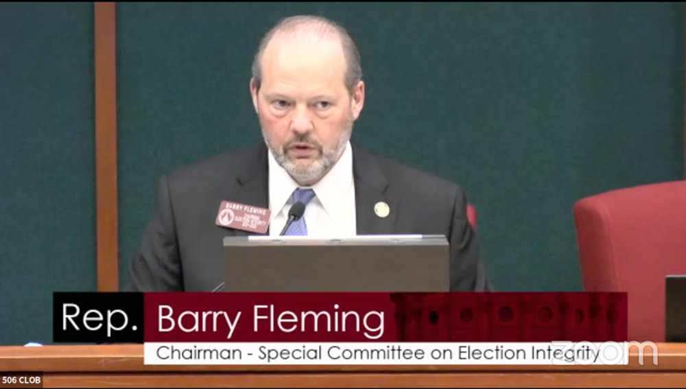 Rep. Barry Fleming, Chairman of the House Special Committee on Election Integrity, is one of many Republican lawmakers that voted to approve no-excuse absentee voting in 2005.