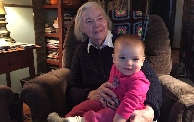 Patsy with her great-granddaughter, Emma Turcotte
