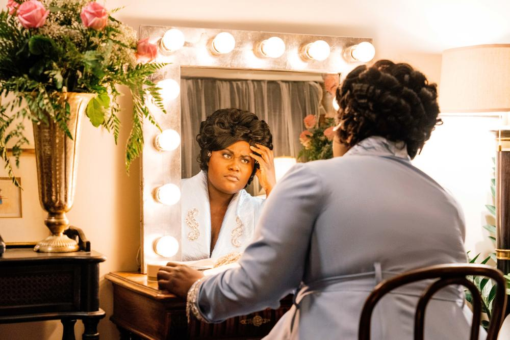 Actor Danielle Brooks as Mahalia Jackson