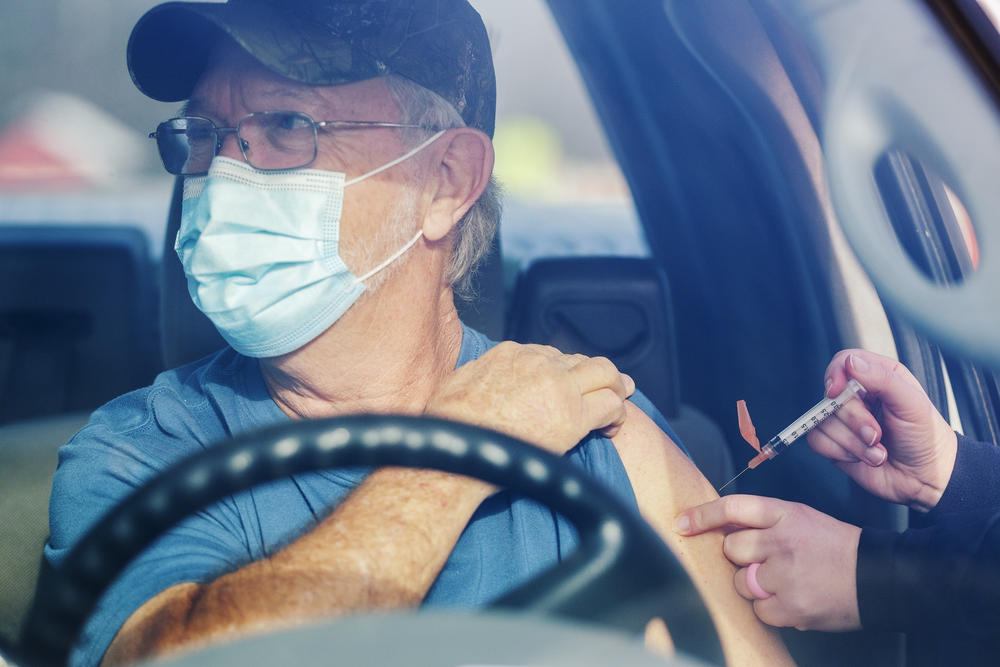 Bob Sapp gets vaccinated against COVID-19 in Cochran, Ga. on Monday January 25, 2021.