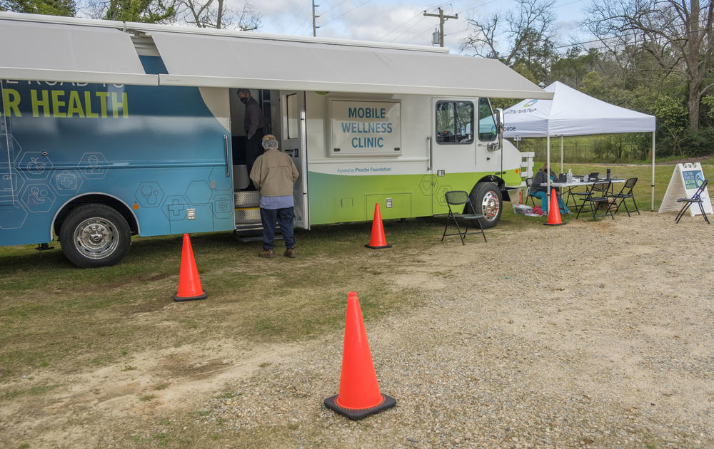 One of two mobile health clinics Phoebe Putney Health Systems is now using to take COVID-19 vaccines on the road to rural communities and into neighborhoods.