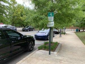 State officials could help improve air quality in Georgia cities if they restored tax breaks that encourage use of electric vehicles like the ones charging in Decatur this month..