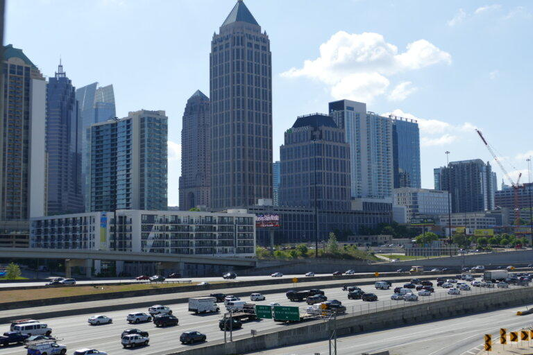 Traffic-weary Atlanta is no longer among the top 25 polluted cities for airborne soot, according to a report by the American Lung Association. But the city still received a failing grade for air quality.