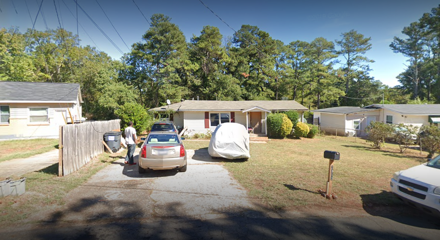 An image outside the house at 2353 Arkose Drive in Marietta, Ga.