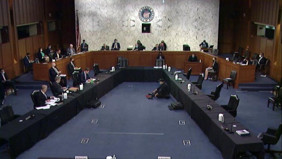 The U.S. Senate Committee on the Judiciary held arguments for and against Georgia's new election laws on April 20, 2021.