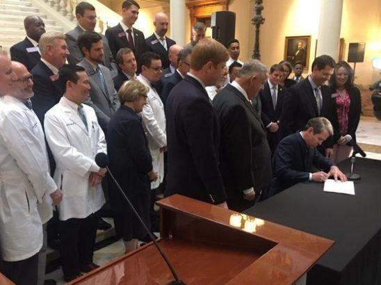 Kemp signs Senate Bill 106 'waiver' bill into law in 2019.