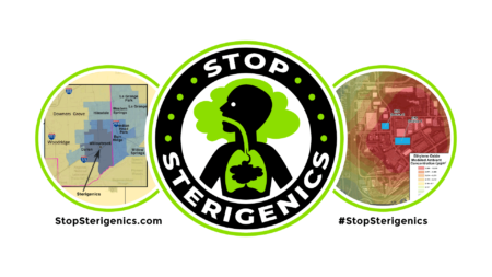 """From the group. """"Stop Sterigenics."""""""