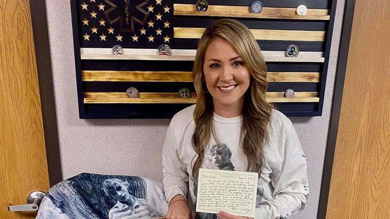 Britta Thomason, a Dublin flight nurse, was recently sent a box of merchandise and a handwritten note from Taylor Swift.