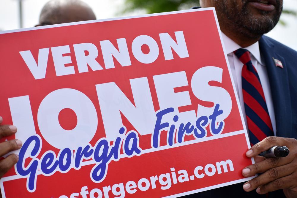 Former Democratic lawmaker Vernon Jones is running to challenge Gov. Brian Kemp in the 2022 GOP gubernatorial primary.