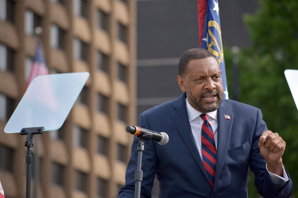 Former Democratic lawmaker Vernon Jones announced a run against Gov. Brian Kemp in the 2022 GOP gubernatorial primary.