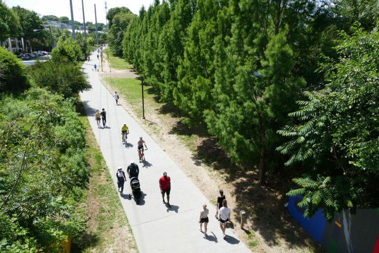 People walking on Beltline in Atlanta