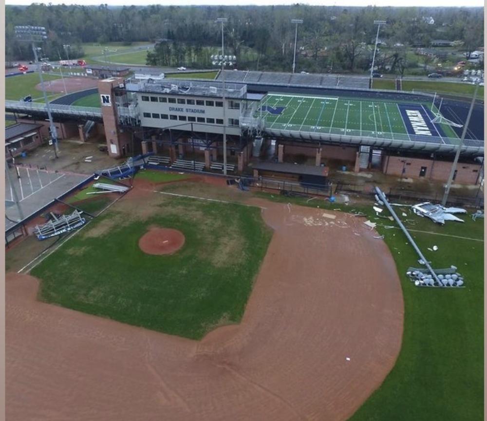 Damage to Newnan baseball field