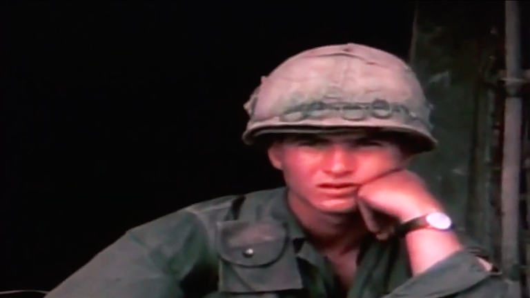 A young soldier in Vietnam.