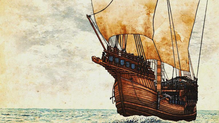Portrait of a ship.