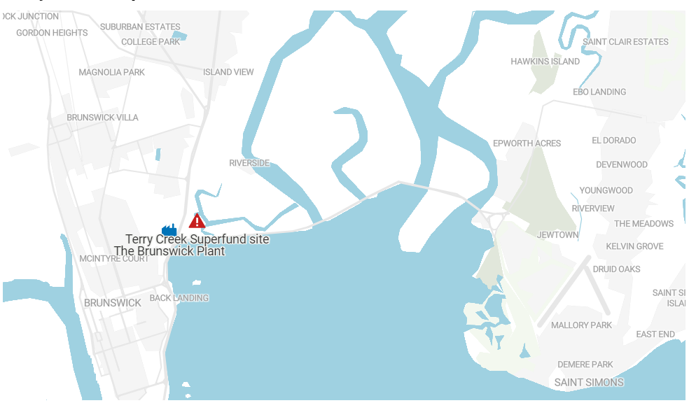 Map of Brunswick site