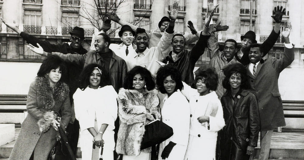 Motown's top artists during a tour of the UK.