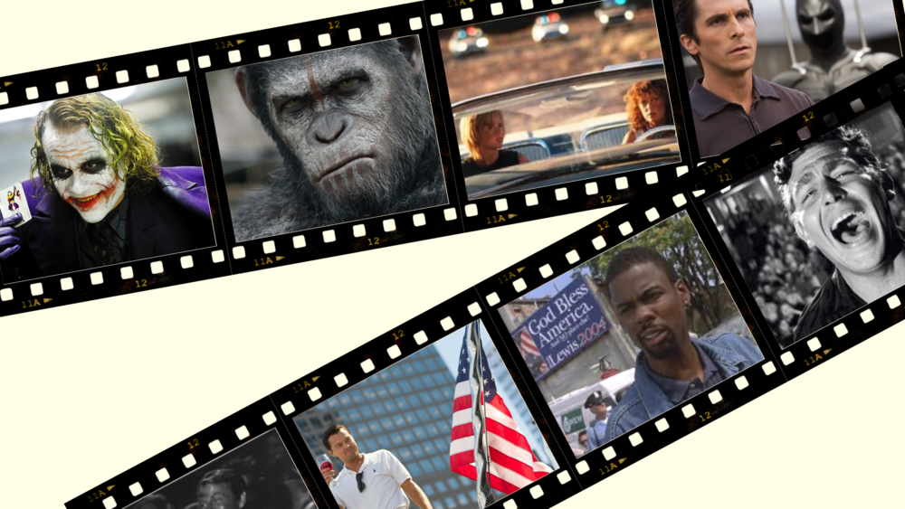 Illustration of movie frames.