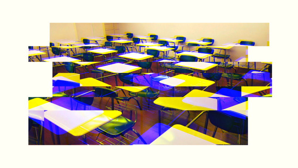 An illustration of a classroom.