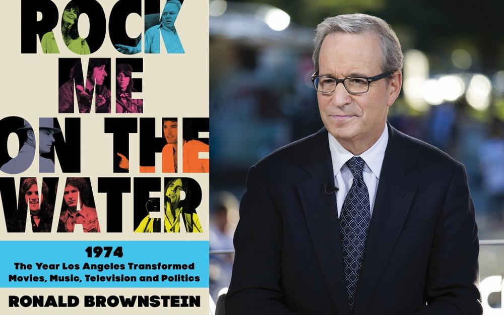 """Ronald Brownstein and the cover of his new book, """"Rock Me On The Water: 1974 — The Year Los Angeles Transformed Movies, Music, Television and Politics"""""""