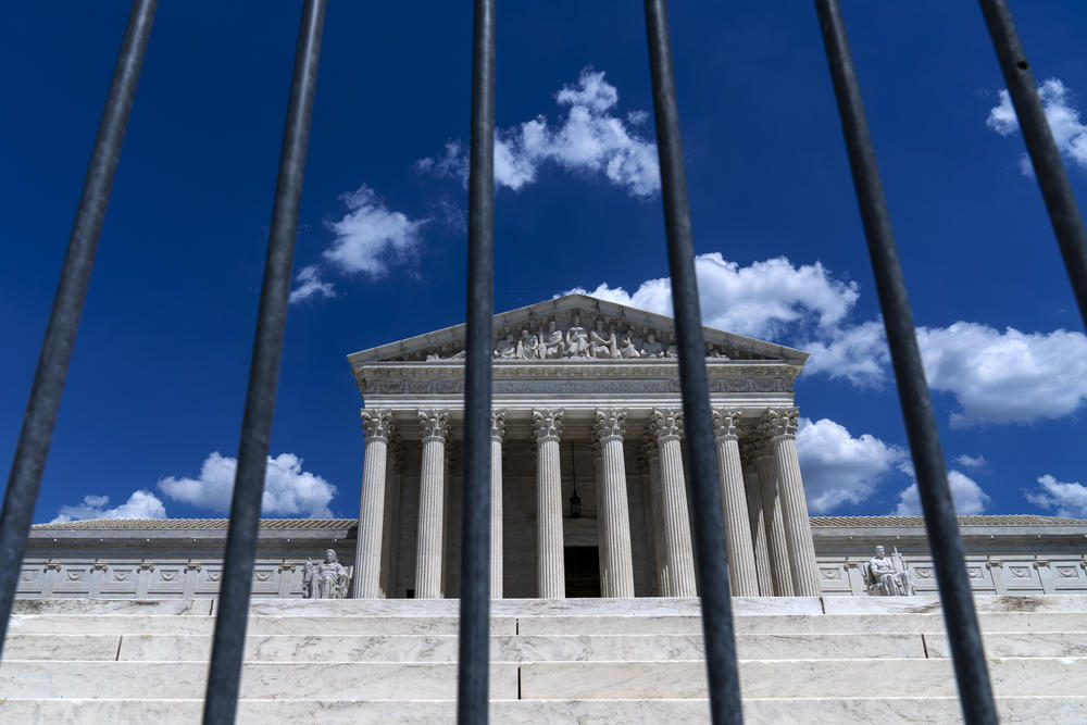 The supreme court in Washington against a Blue sky.