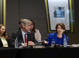 U.S. Sen. Amy Klobuchar called Georgia ground zero for restrictive voting laws during a Monday voting law hearing hosted by the Senate Rules and Administration in Atlanta. The hearing came in response to state Republican's passing new voting rules that have led to Congressional Democrats pressing for new federal standards.