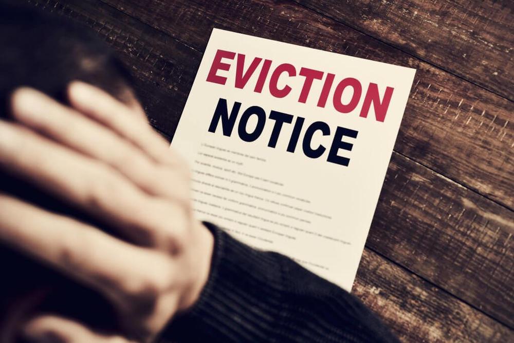 Stock photo eviction notice