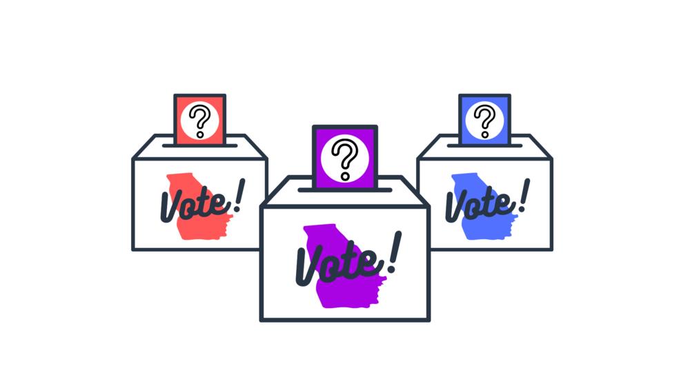 An illustration of ballot boxes.