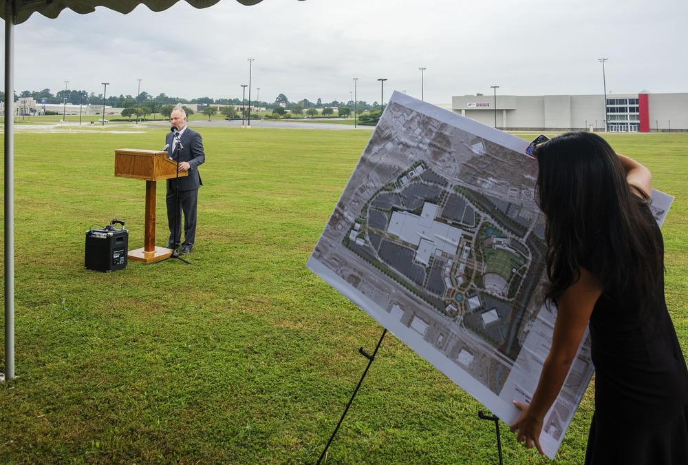 Macon-Bibb Mayor Lester Miller during the unveiling of his plan for reinvesting $100 million into the Macon Mall.