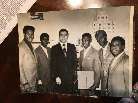 Former Macon Mayor Ronnie Thompson, who served from 1967 to 1975, presented a proclamation honoring the Cotton Brothers' success in gospel music