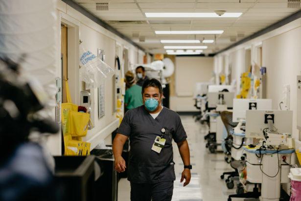 Gainesville-based Northeast Georgia Health System COVID unit.