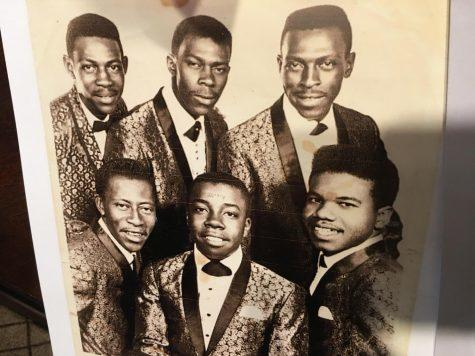 The original Cotton Brothers gospel quartet is pictured here with their guitar and bass players.