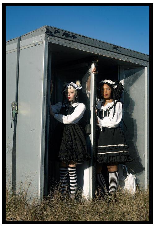 """Revolving Door"" is part of the ""Alternatives"" portrait series by visual artist Nia Marjani."