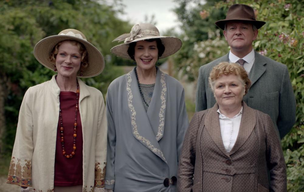 Rosamund, Cora, Robert and Mrs. Pattmore