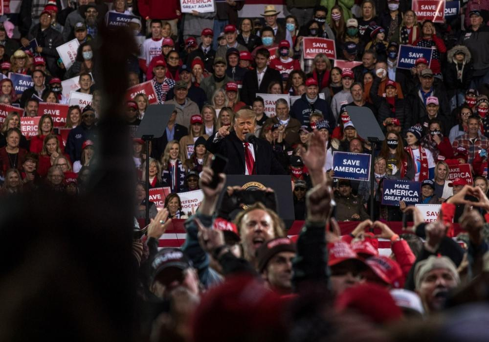 Former President Donald Trump rally