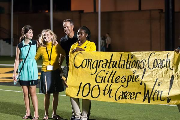 Valdosta HC Rance Gillespie's 100th career win was earned through Friday's 41-14 win over Newton. Photo courtesy of Mike Chapman