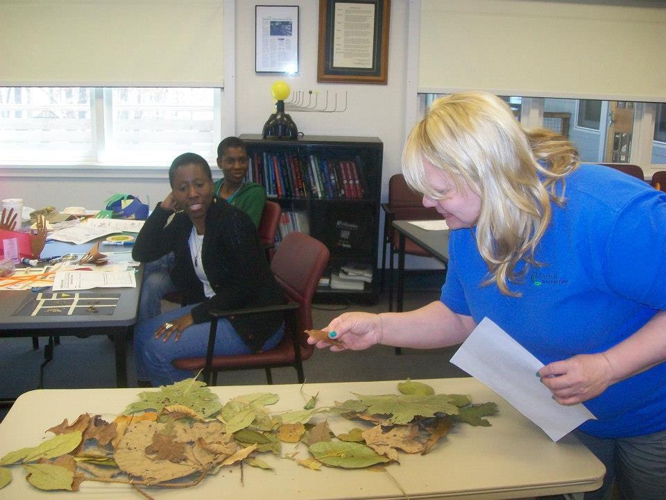 Teachers at a hands-on training at Charlie Elliot Wildlife Center