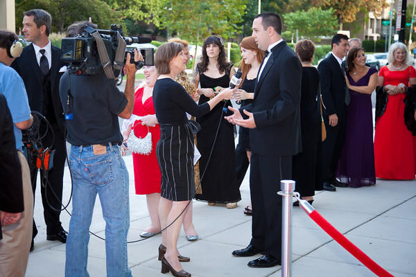 Anne Interviewing Educators as they Arrive!