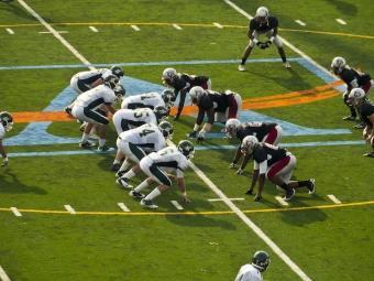 Grady High School's football team squares off against Blessed Trinity. (Photo: GPB)