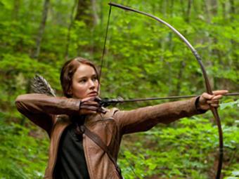 """Jennifer Lawrence stars as 'Katniss Everdeen' in """"The Hunger Games."""" Photo credit: Murray"""