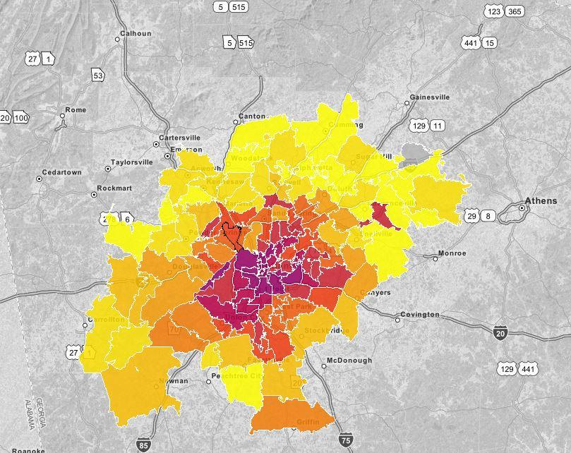 In some Atlanta zip codes, the AIDS epidemic is as high as the infection rate in some African nations (Photo Credit: AIDS Vu)