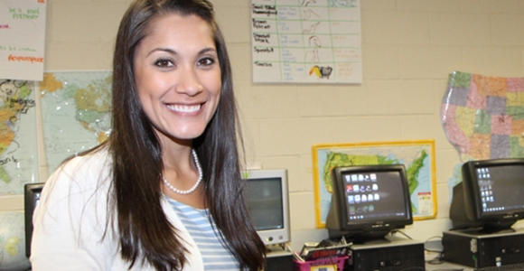 Amanda Miliner is the 2014 Georgia Teacher of the Year. Image from valdesta.edu
