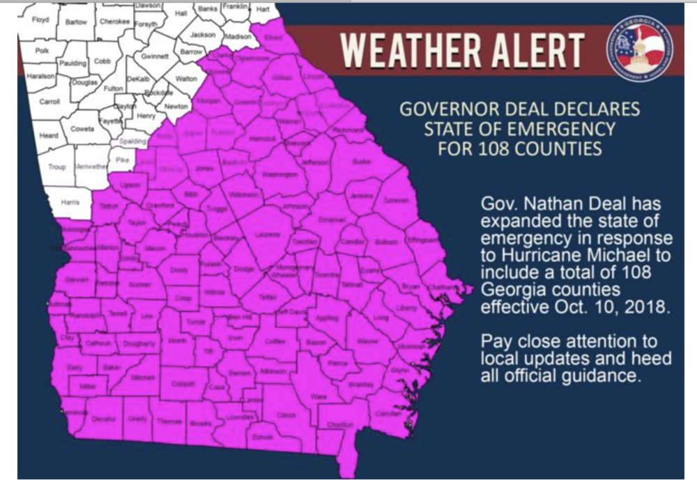 State of emergency extended in Georgia.