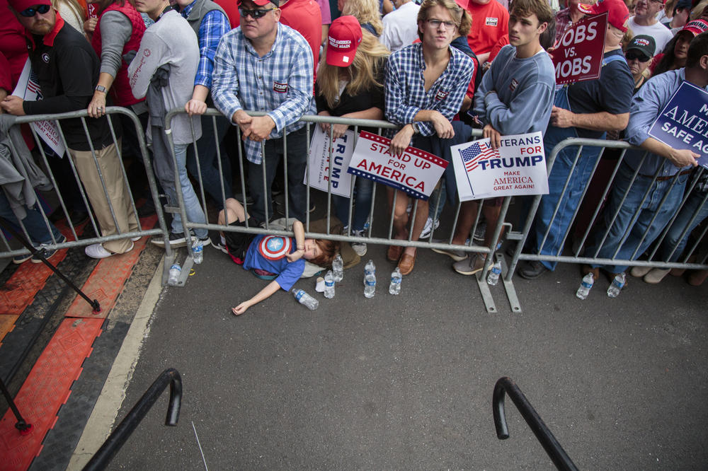 People waited eight hours or more to see and hear President Trump